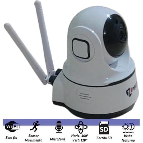 CAMERA SMART IP WI-FI IMAGEM HD 355º FUNÇÃO RASTREAR C/AUDIO JL-309 JL PROTEC