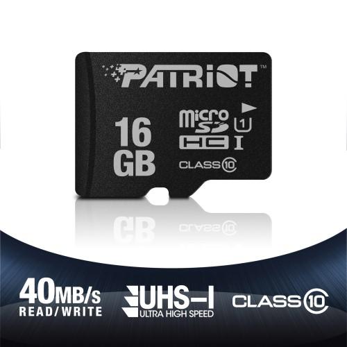 CARTÃO 16GB MICRO SD CLASSE 10 SDHC LX SERIES PATRIOT