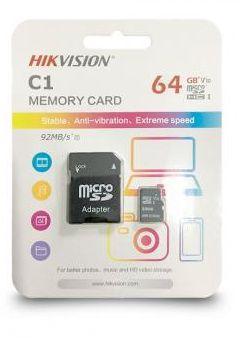 CARTÃO MICRO SD 64GB CLASS 10 C1 HIKVISION  - Express Informática