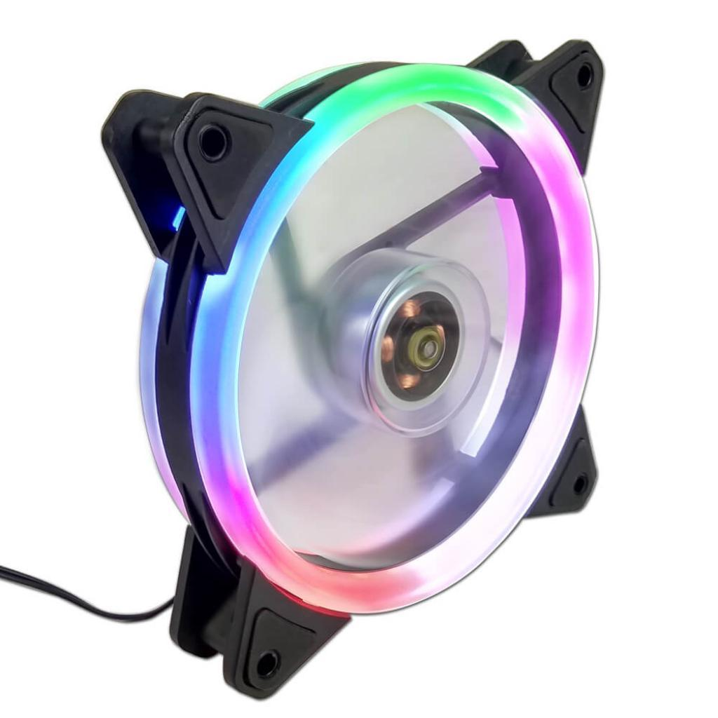 COOLER FAN 12CM LED RGB RAINBOW EW0509R G-FIRE  - Express Informática