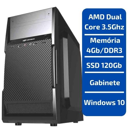 CPU - AMD A6-7480 3.5GHZ /MEMÓRIA 4GB/DDR3 /SSD 120GB /WINDOWS 10