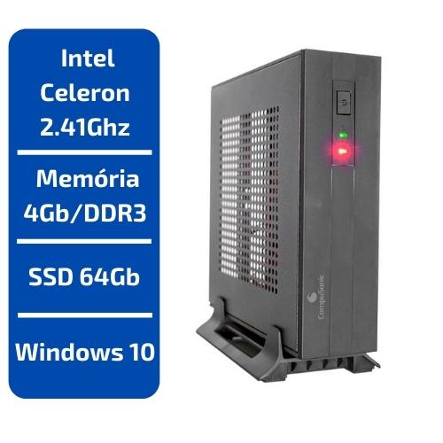 CPU INTEL CELERON 2.41GHZ 4GB/DDR3 SSD 64GB WINDOWS 10 COMPUSONIC