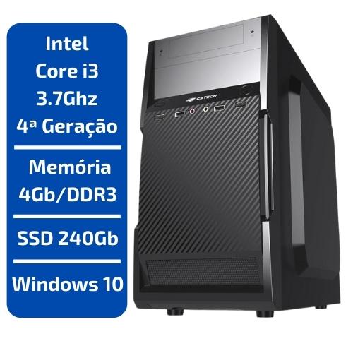 CPU - INTEL CORE I3 3.7GHZ /MEMÓRIA 4GB/DDR3 /SSD 240GB /WINDOWS 10