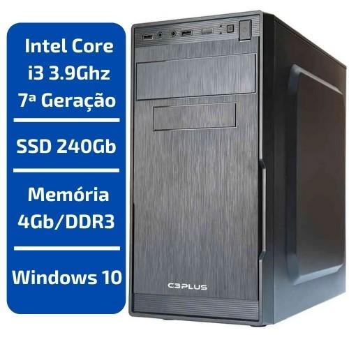 CPU - INTEL CORE I3 3.9GHZ /MEMÓRIA 4GB/DDR3 /SSD 240GB /WINDOWS 10