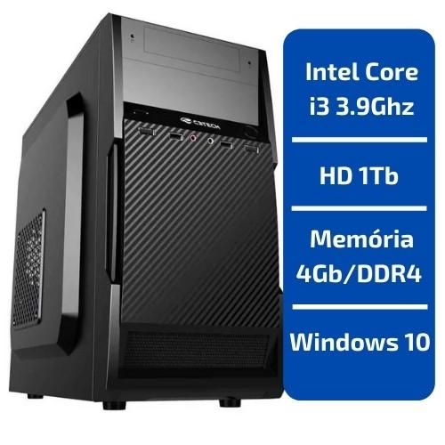 CPU - INTEL CORE I3 3.9GHZ /MEMÓRIA 4GB/DDR4 /HD 1TB /WINDOWS 10