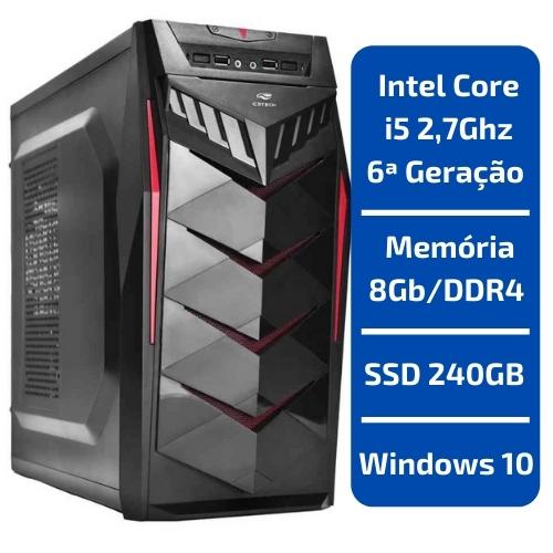 CPU - INTEL CORE i5 2,7GHZ /MEMÓRIA 8GB/DDR4 /SSD 240GB /WINDOWS 10