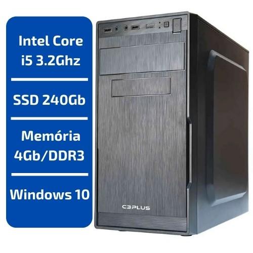 CPU - INTEL CORE I5 3.2GHZ /MEMÓRIA 4GB/DDR3 /SSD 240GB /WINDOWS 10