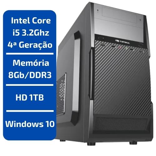 CPU - INTEL CORE I5 3.2GHZ /MEMÓRIA 8GB/DDR3 /HD 1TB /WINDOWS 10