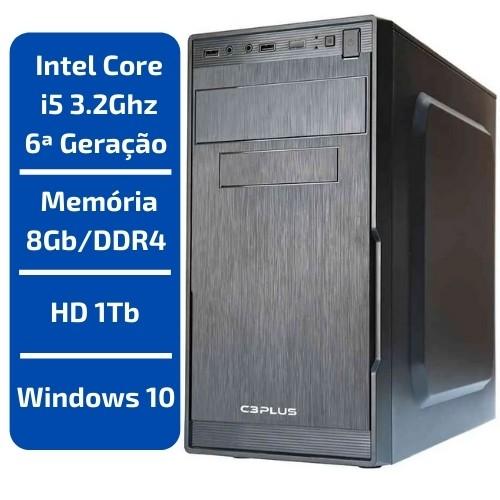 CPU - INTEL CORE I5 3.2GHZ /MEMÓRIA 8GB/DDR4 /HD 1TB /WINDOWS 10