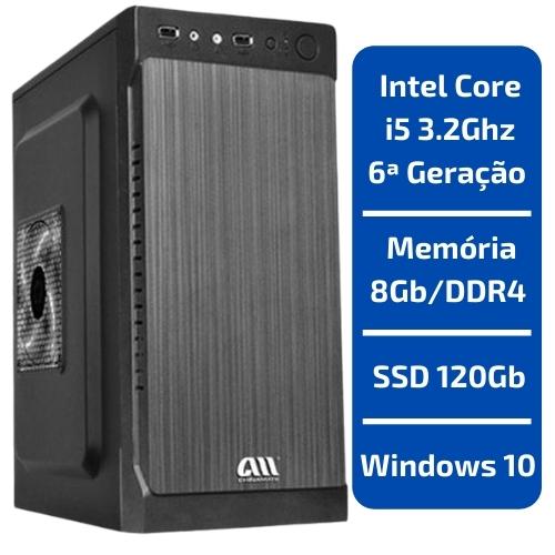 CPU - INTEL CORE I5 3.2GHZ /MEMÓRIA 8GB/DDR4 /SSD 120GB /WINDOWS 10