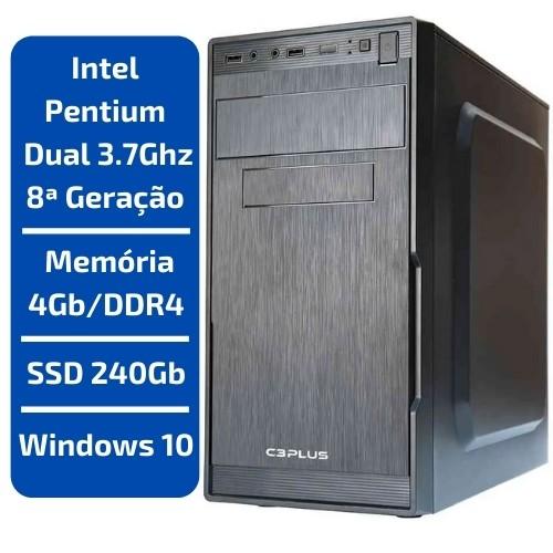CPU - INTEL PENTIUM DUAL CORE 3.8GHZ /MEMÓRIA 4GB/DDR4 /SSD 240GB /WINDOWS 10
