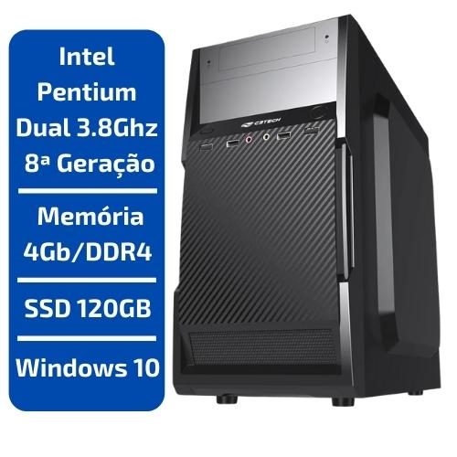 CPU - INTEL PENTIUM DUAL CORE 3.8GHZ /MEMÓRIA 4GB/DDR4 /SSD 120GB /WINDOWS 10
