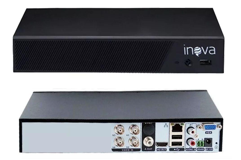 DVR 04 CANAIS AHD/TVI/CVI/IP 1080N DVR-5708 INOVA  - Express Informática