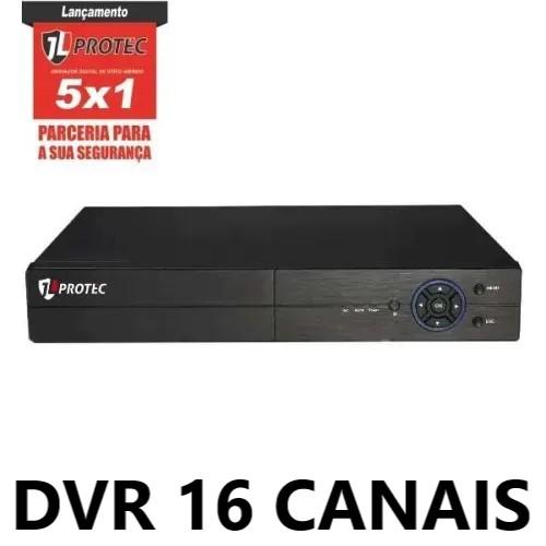 DVR 16 CANAIS 1080N MULTIFORMATOS VGA/HDMI IP 6016A JL PROTEC