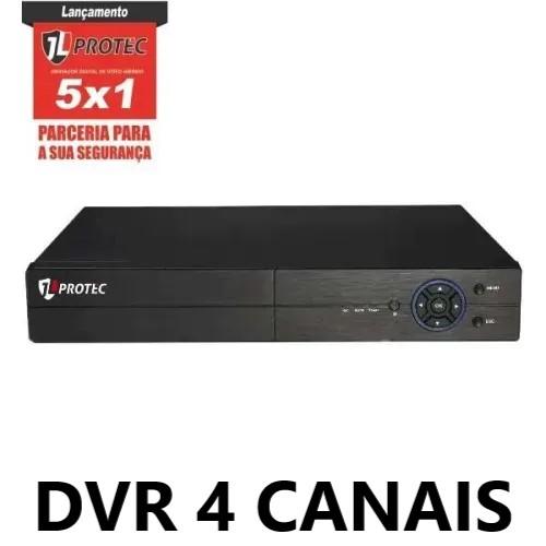 DVR 4 CANAIS 1080N MULTIFORMATOS VGA/HDMI IP 6004A JL PROTEC