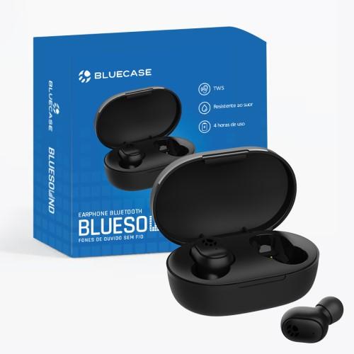 FONE DE OUVIDO BLUETOOTH EARPHONE TWS BTS01CASE BLUECASE
