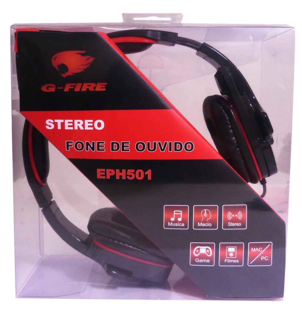 FONE DE OUVIDO C/MICROFONE HEADSET EPH501 G-FIRE  - Express Informática
