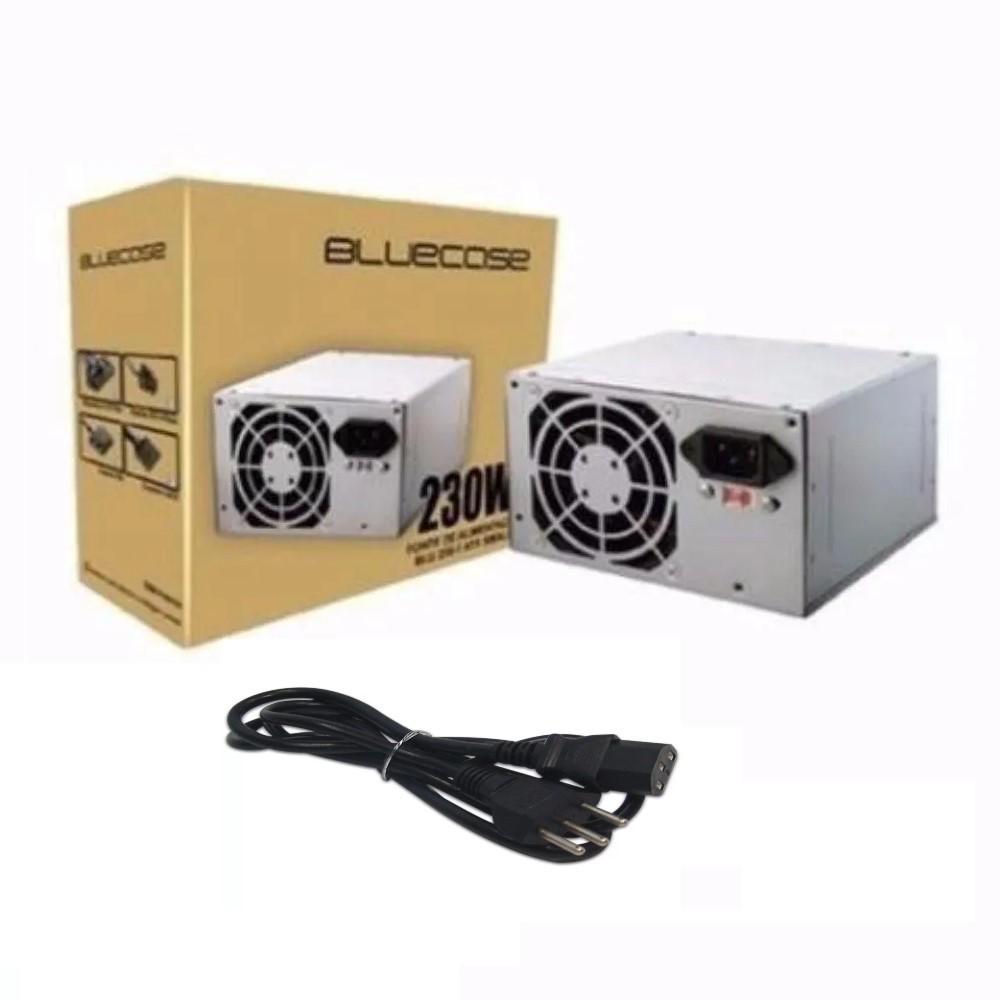 FONTE ATX 230W REAL 24P C/CABO BLU 230-E BLUECASE