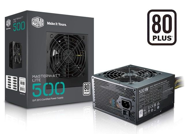 FONTE ATX 500W 80PLUS BIVOLT MPX-500 COOLER MASTER  - Express Informática