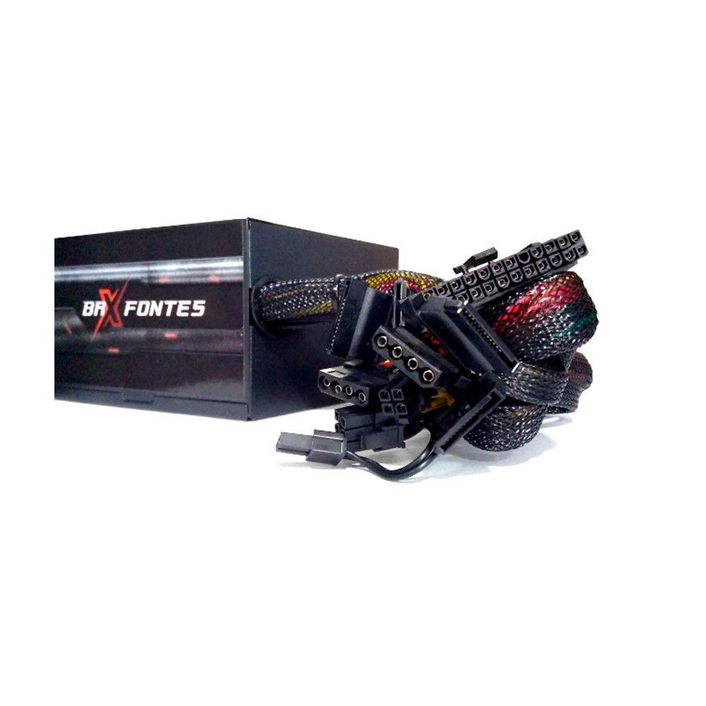FONTE ATX 800W REAL BIVOLT AUTOMATICA BRX  - Express Informática
