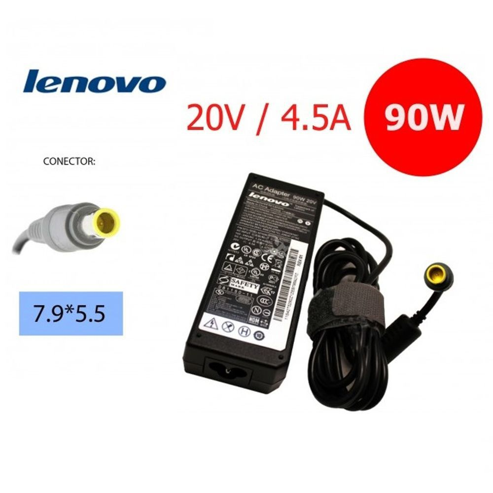 FONTE NOTEBOOK 20V 4,5A 90W LENOVO/IBM FT-40 TSA