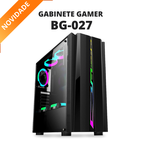 GABINETE GAMER RGB BG-027 USB 3.0 S/FONTE BLUECASE  - Express Informática
