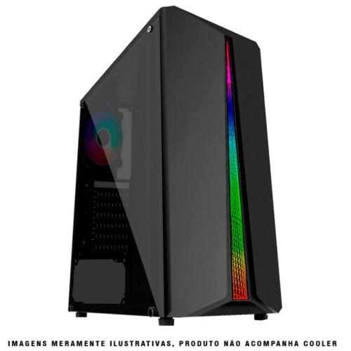GABINETE GAMER S/FONTE LEDS RGB LATERAL ACRÍLICO GF5523 PIXXO