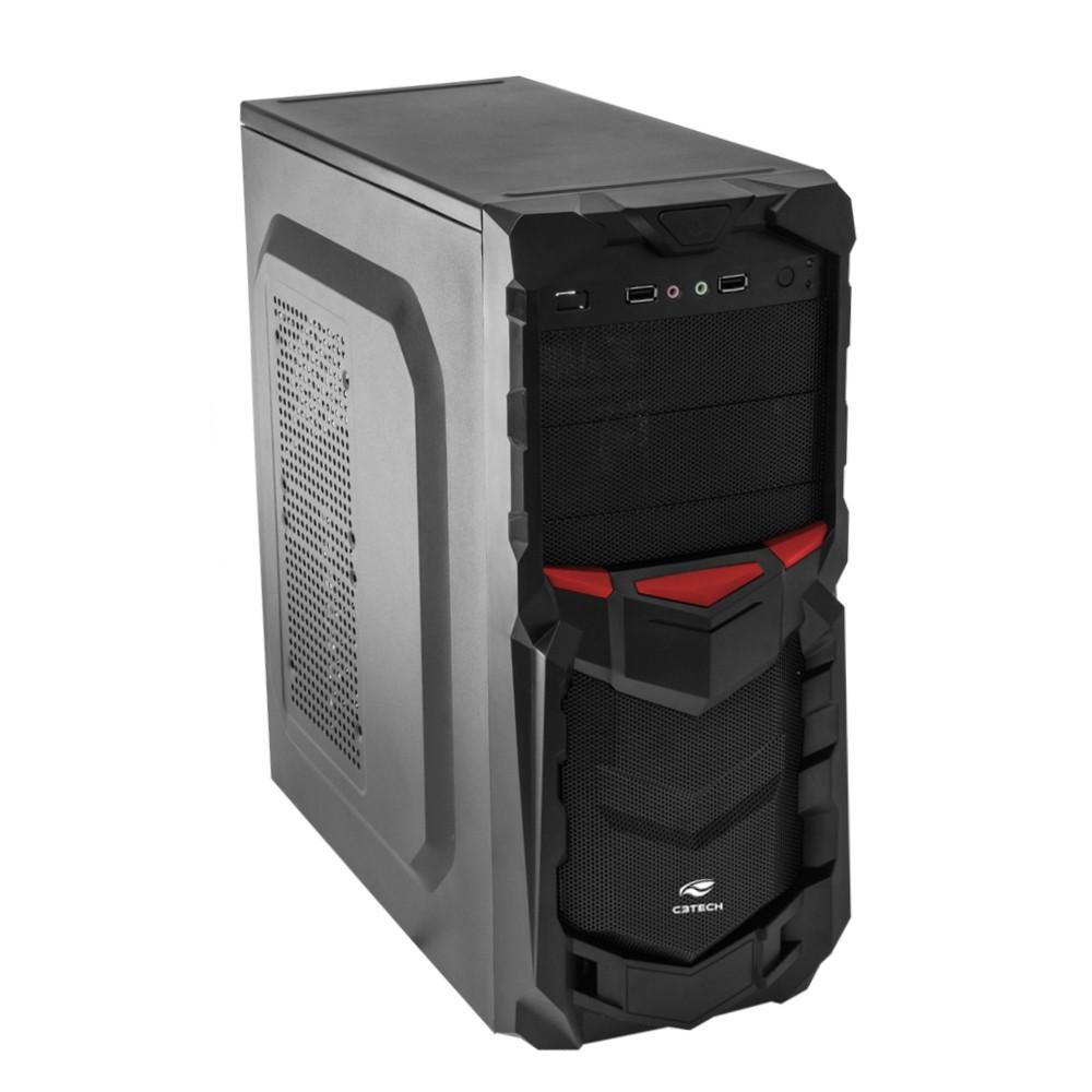 GABINETE GAMER S/FONTE USB 2.0 MT-G50 PRETO C3TECH