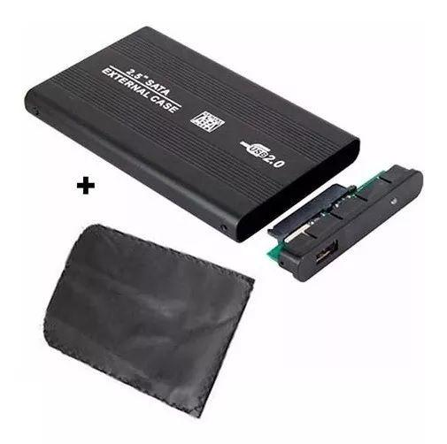 "GAVETA 2,5"" HDD NOTEBOOK USB 2.0 PRETA FY  - Express Informática"