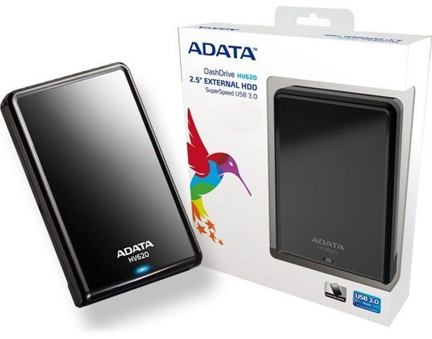 HD 1TB EXTERNO SLIM USB 3.0 PRETO AHV620S-1TU31-CBK ADATA