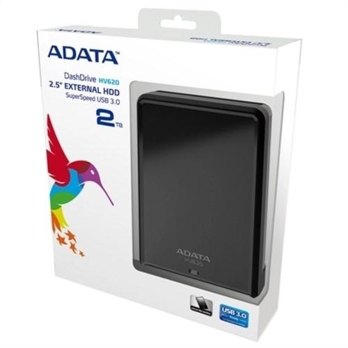 HD 2TB EXTERNO SLIM USB 3.0 PRETO AHV620S-2TU31-CBK ADATA