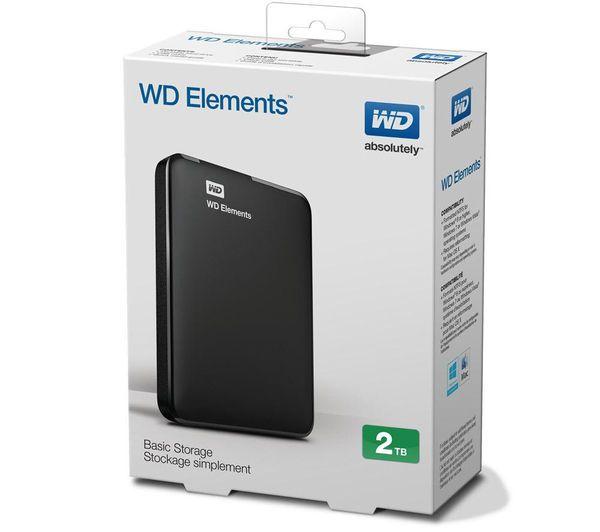 HD 2TB EXTERNO USB 3.0 WDBU6Y0020BBK WD ELEMENTS  - Express Informática