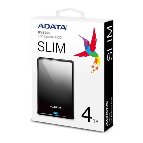 HD 4TB EXTERNO SLIM USB 3.0 PRETO AHV620S-4TU31-CBK ADATA