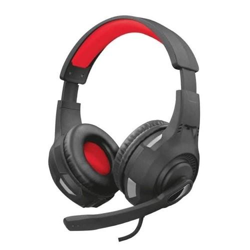 HEADSET GAMER P2/PS4/PS5 RAVU GTX-307 VERMELHO/PRETO TRUST