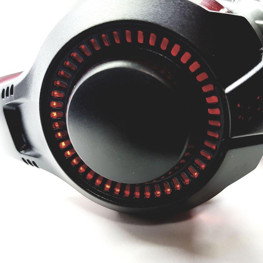 HEADSET GAMER P2/USB GAMER LED VERM 0468 BRIGHT  - Express Informática