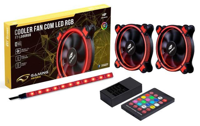 KIT - 2X COOLER FAN 12cm F7-L500RGB  LED C3 TECH