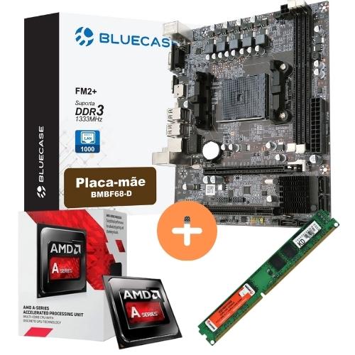 KIT - AMD DUAL CORE 3.5GHZ + PLACA MAE FM2 BLUECASE + MEMORIA 4GB/DDR3 KEEPDATA