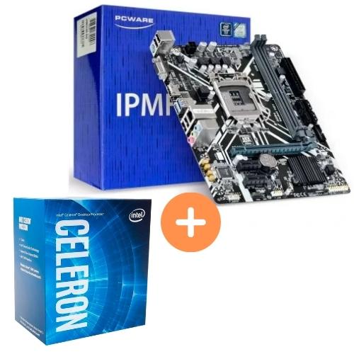 KIT- PLACA 1151/DDR4 8ª GER PCWARE + INTEL CELERON G4930 3,2GHZ 2MB 8ª GER BOX