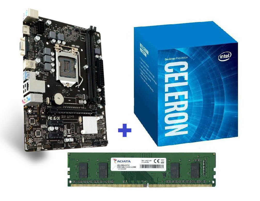 KIT- PLACA 1151 8ªGER BIOSTAR + INTEL CELERON 3,2GHZ 8ª GER + MEMÓRIA 4GB/DDR4  - Express Informática