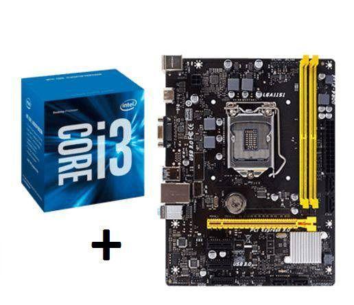 KIT - PLACA MÃE 1151/DDR3 BIOSTAR + INTEL CORE I3 3.7GHZ  - Express Informática