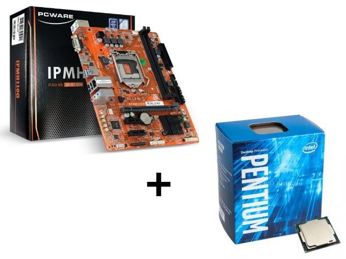 KIT - PLACA MÃE 1151/DDR3 PCWARE + PENTIUM DUAL CORE 3.5GHZ 3MB BOX