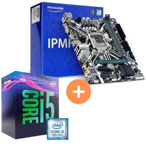 KIT- PLACA MÃE 1151 IPMH310G 9ªGER PCWARE + INTEL CORE I5-9400 2.9GHZ 9MB 9ªGER BOX