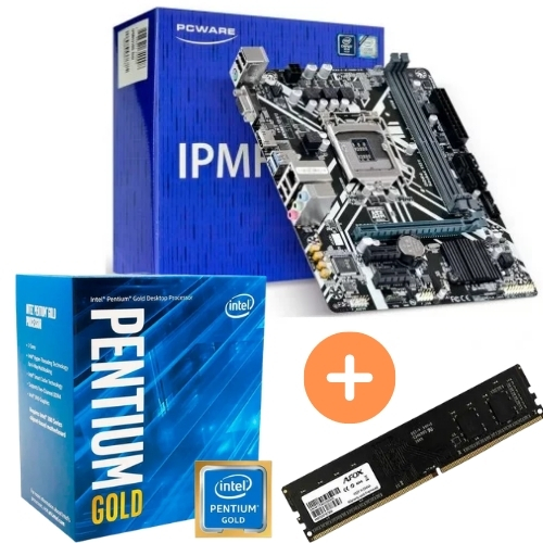 KIT - PLACA MÃE 1151 PCWARE + INTEL PENTIUM 3.8GHZ 8ª GER + MEMÓRIA 4GB/DDR4 NETCORE