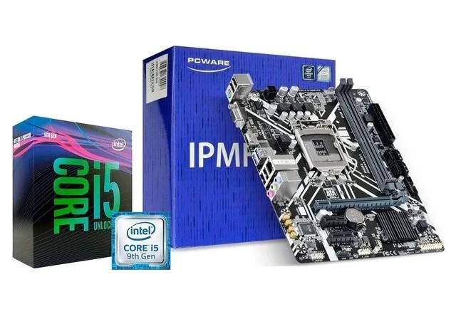 KIT- PM 1151/DDR4 9ª GER PCWARE + INTEL CORE I5-9400 2.9GHZ 9MB 9ª GERAÇÃO  - Express Informática