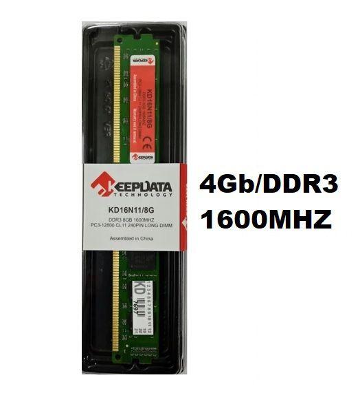 MEMORIA 4GB/DDR3 1600MHZ CL11 KEEPDATA  - Express Informática