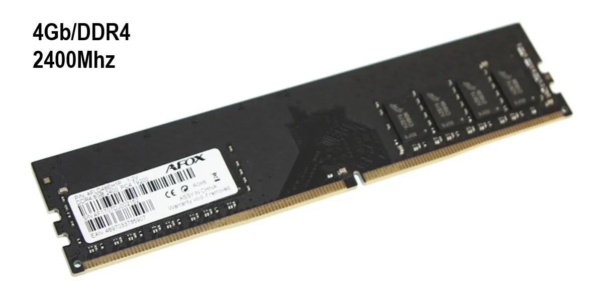 MEMORIA 4GB/DDR4 2400MHZ CL17 AFOX  - Express Informática