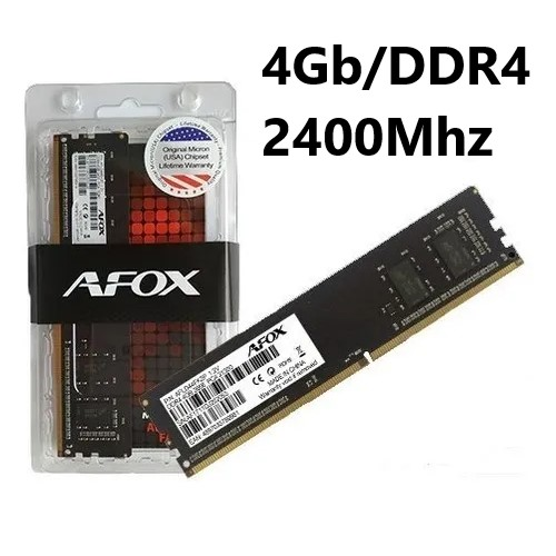 MEMORIA 4GB/DDR4 2400MHZ CL17 AFOX