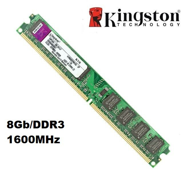 MEMORIA 8GB/DDR3 1600MHZ KINGSTON  - Express Informática