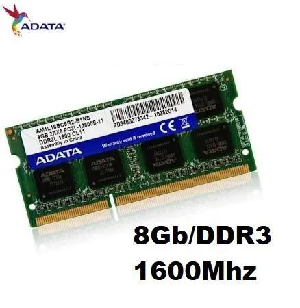 MEMORIA 8GB/DDR3 1600MHZ NOTEBOOK CL11 ADATA  - Express Informática