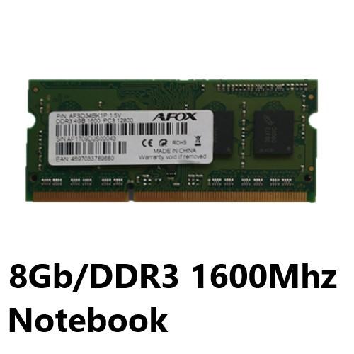 MEMORIA 8GB/DDR3 1600MHZ NOTEBOOK CL11 AFOX